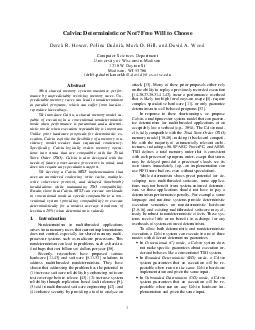 Calvin Deterministic or Not Free Will to Choose Derek R PDF document - DocSlides