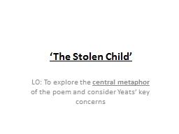 'The Stolen Child'