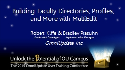 Building Faculty Directories, Profiles, and More with Multi