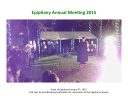 Epiphany Annual Meeting
