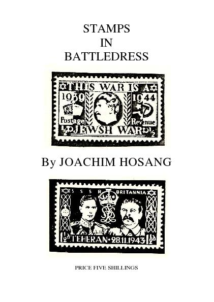 STAMPS IN BATTLEDRESS By JOACHIM HOSANG PRICE FIVE SHILLINGS
