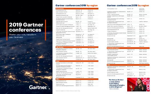 The Worlds Most Important Gathering of CIOs and Senior IT Executives Gartner Events  For the most uptodate list of Gartner events visit gartner PDF document - DocSlides