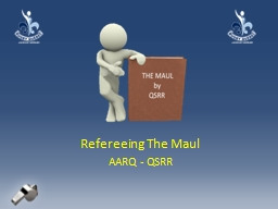 Refereeing The Maul