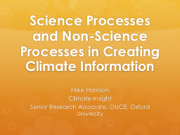 Science Processes and Non-Science Processes in Creating Cli