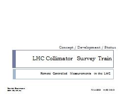 LHC Collimator Survey Train