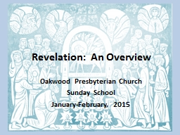 Revelation:  An Overview
