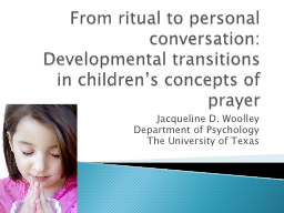 From ritual to personal conversation: