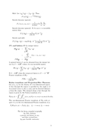 EE  The Fourier Transform and its Applications This Being an Ancient Formula Sheet Handed Down To All EE  Students Integration by parts dt dt Even and odd parts of a function Any function can be writ