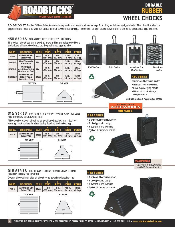CHECKERS INDUSTRIAL SAFETY PRODUCTS  •  620 COMPTON ST, BROOMFI