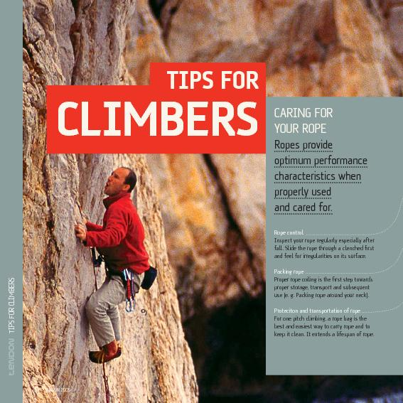 TIPS FOR CLIMBERS PowerPoint PPT Presentation