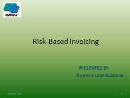 Risk-Based Invoicing