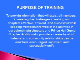 To provide information that will assist all members in meet