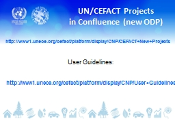 UN/CEFACT Projects PowerPoint PPT Presentation