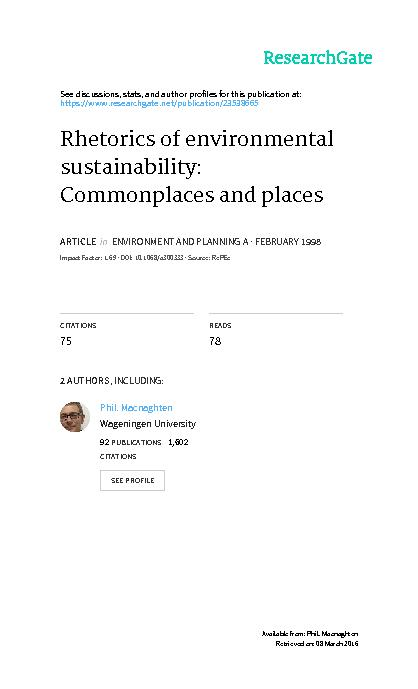 a Indicators of Sustainable Development for the United Kingdom ...
