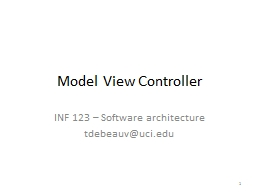 Model View Controller PowerPoint PPT Presentation