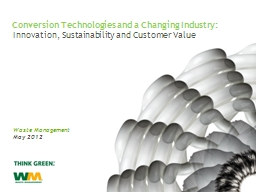 Innovation, Sustainability and Customer Value PowerPoint PPT Presentation
