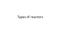 Types of reactors PowerPoint PPT Presentation