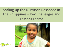 1 Scaling Up the Nutrition Response in PowerPoint PPT Presentation