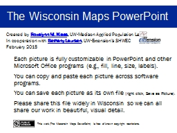 The Wisconsin Maps PowerPoint