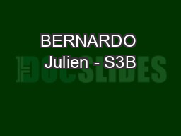 BERNARDO Julien - S3B