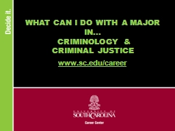 WHAT CAN I DO WITH A MAJOR IN...