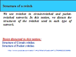 Structure of a switch