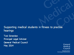 Supporting medical students in fitness to practise hearings