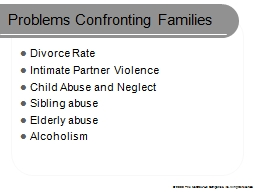 Problems Confronting Families