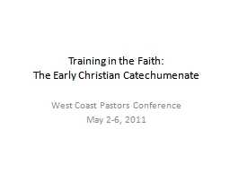 Training in the Faith: