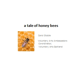 a tale of honey bees