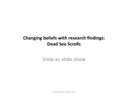 Changing beliefs with