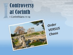 Controversy at Corinth