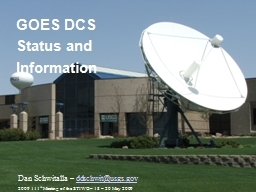 GOES DCS Status and Information