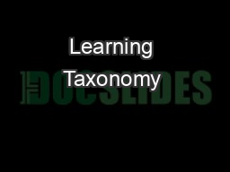 Learning Taxonomy