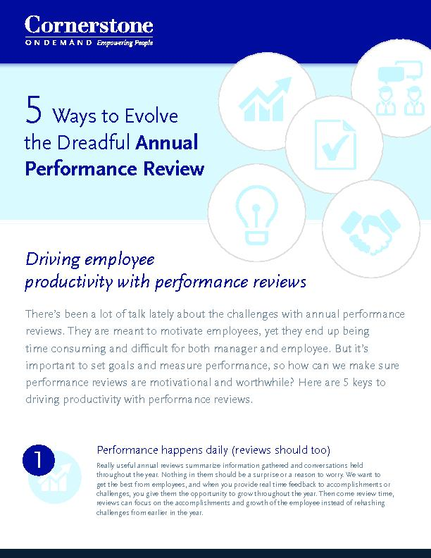 Performance happens daily (reviews should too)