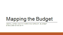 Mapping the Budget