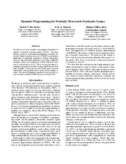 Dynamic Programming for Partially Observable Stochastic G ames Daniel S