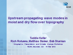 Upstream propagating wave modes in moist and dry flow over