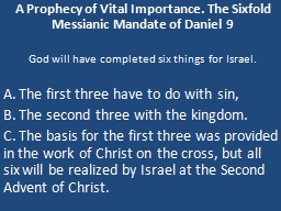A Prophecy of Vital Importance. The PowerPoint PPT Presentation