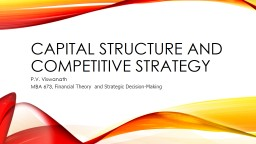 Capital Structure and competitive strategy