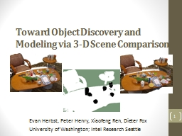 Toward Object Discovery and Modeling via 3-D Scene Comparis