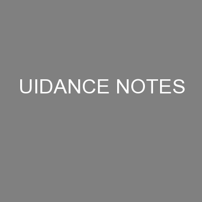 UIDANCE NOTES