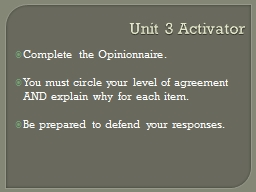 Unit 3 Activator