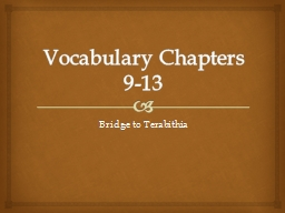Vocabulary Chapters 9-13