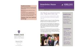 Newsletter Name
