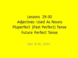 Lessons 29-30