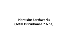Plant site Earthworks