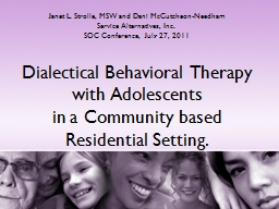 Dialectical Behavioral Therapy with Adolescents