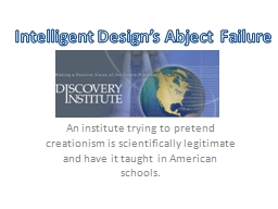 An institute trying to pretend creationism is scientificall