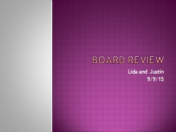 BOARD REVIEW PowerPoint PPT Presentation
